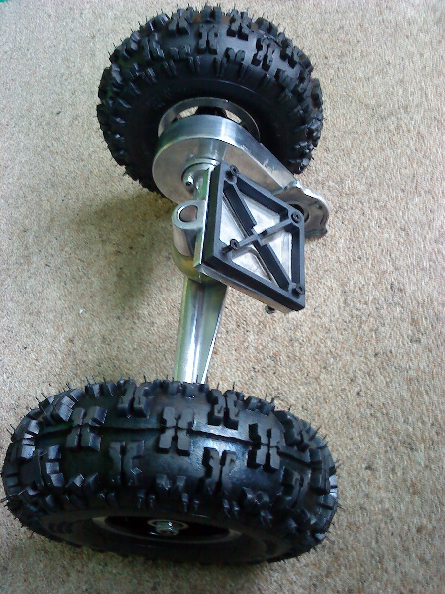 Skateboard axle and wheels