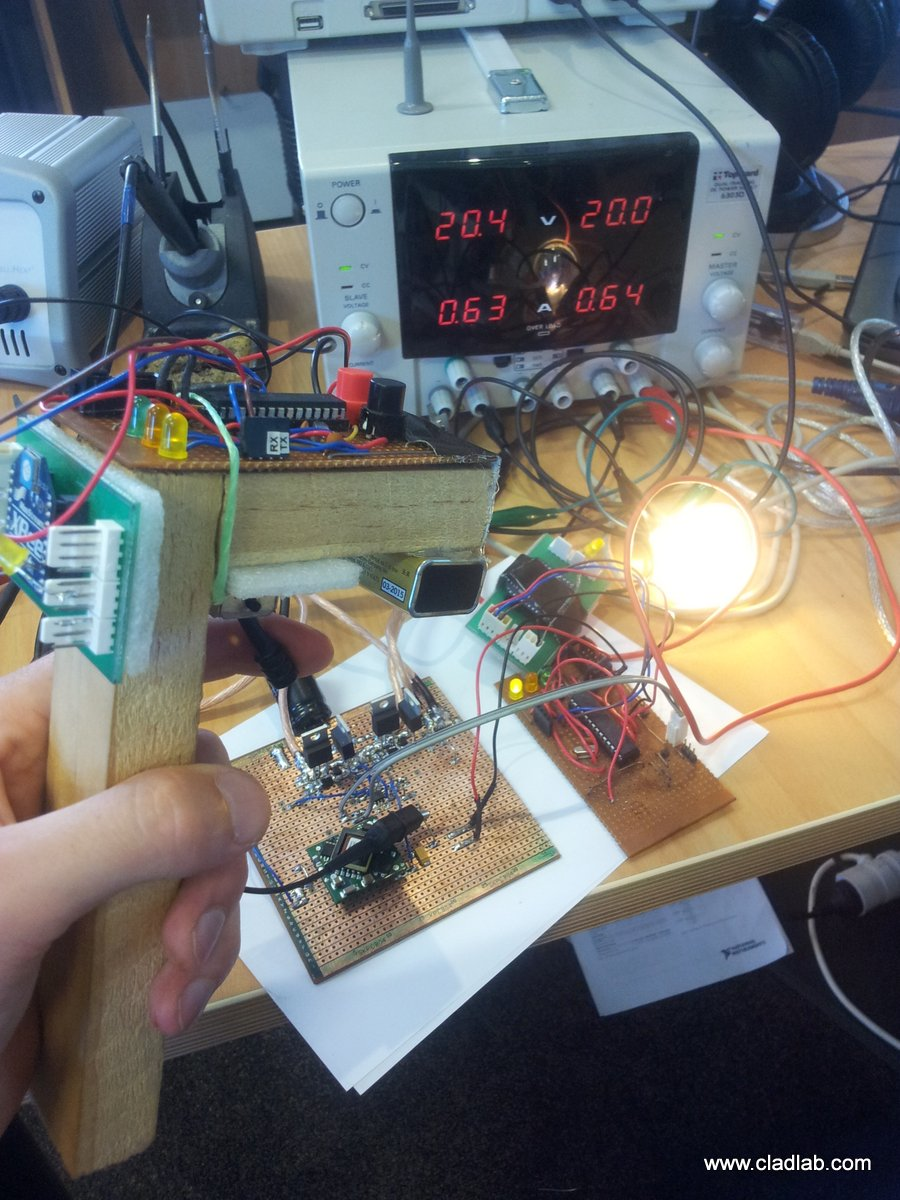 Testing the pwm with remote and light bulb