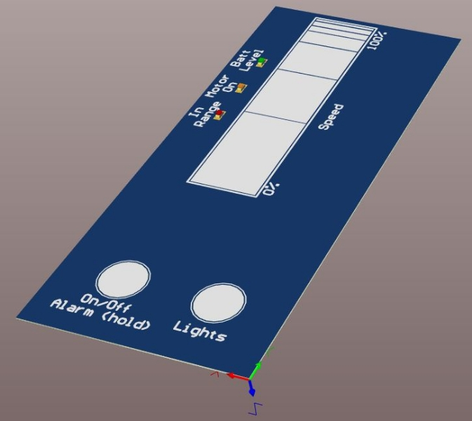 Remote pcb 3d model front side
