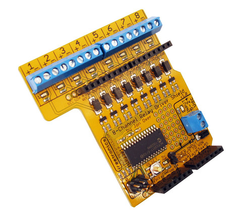 Freetronics8 channel relay driver shield