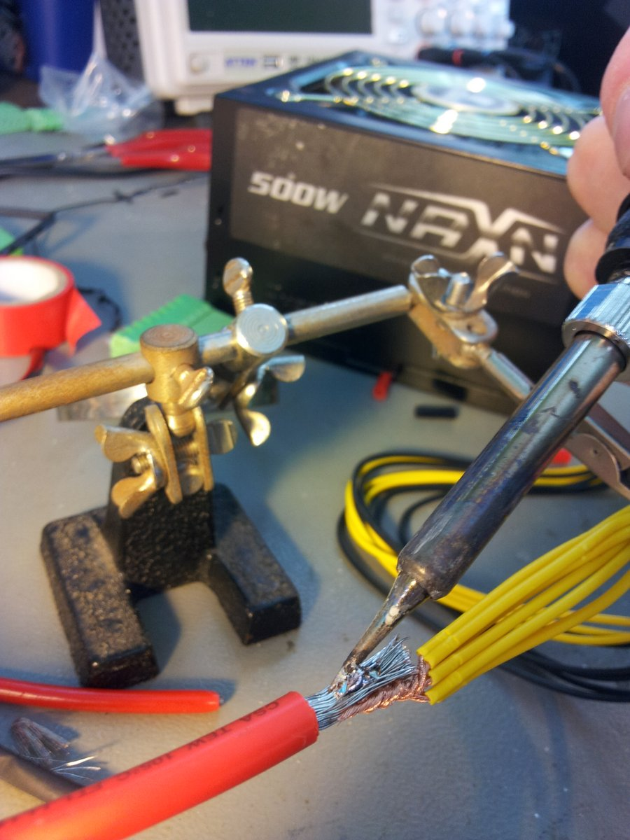 High current soldering