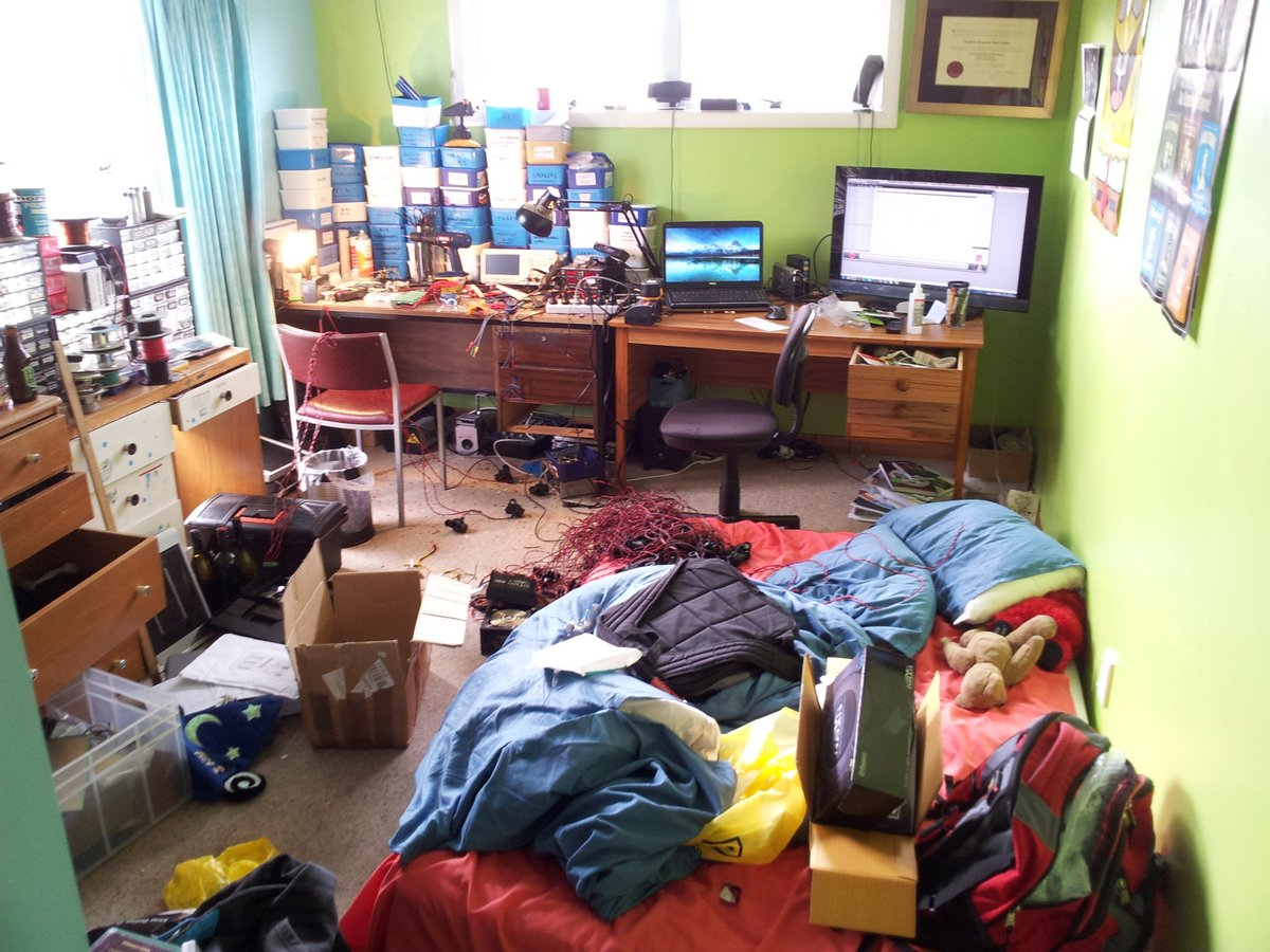Room is a mess