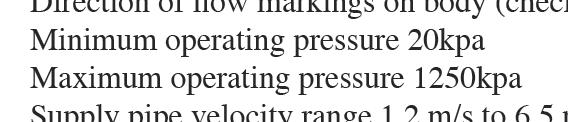 Solenoid minimum operating pressure