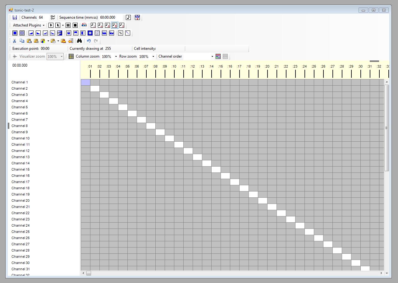 Vixen screenshot tonic test sequence