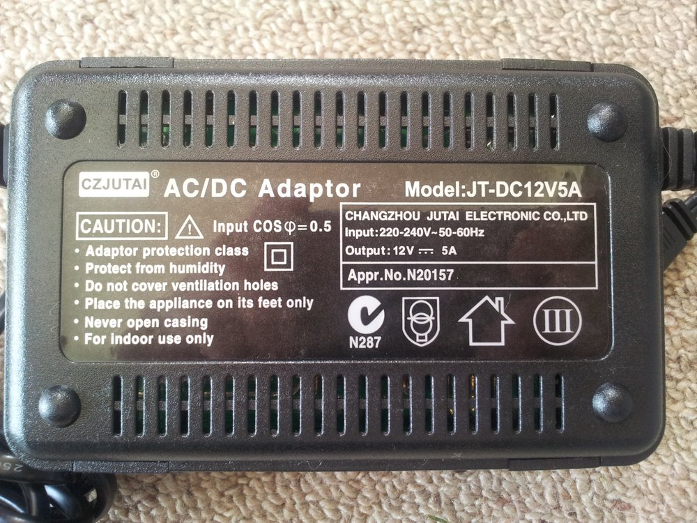 011 the 12v 5a adapter