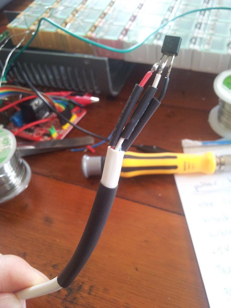 014 temp sensor ready to be heatshrinked