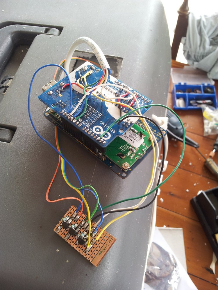 024 daughter board connected to arduino