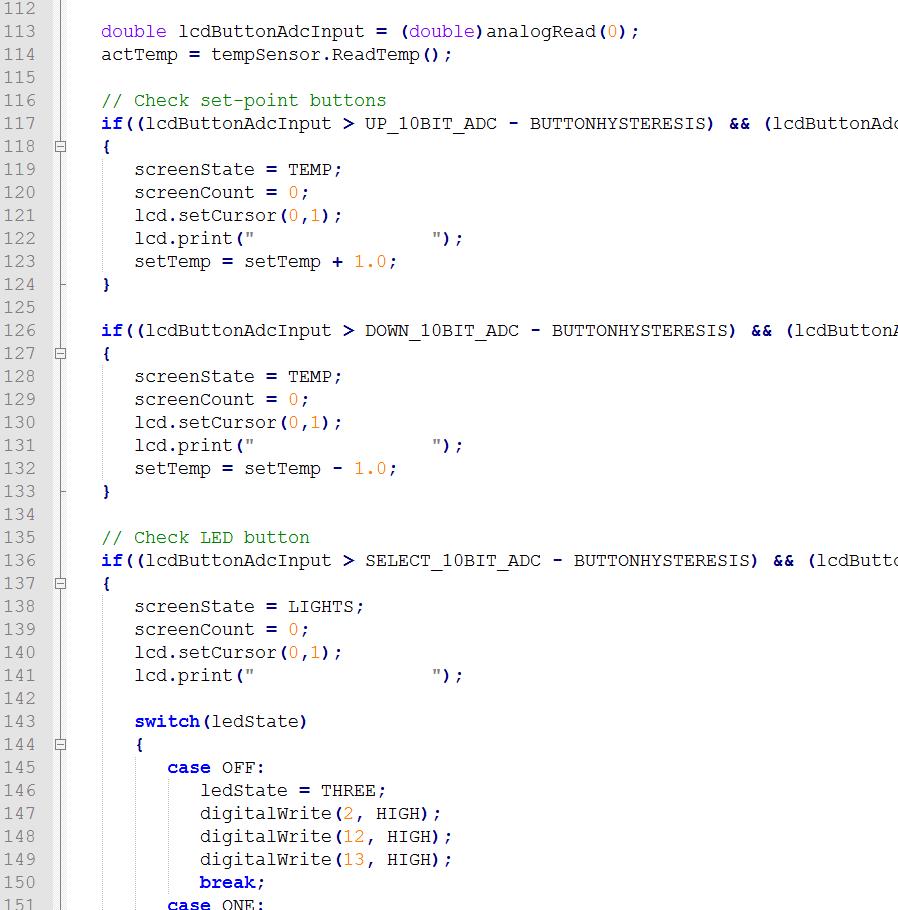 Part of the inursery main loop code