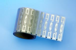A roll of UHF RFID inlays. Image from http://hcaeditor.blogspot.co.nz/2011/07/want-some-salsa-with-your-chips.html.