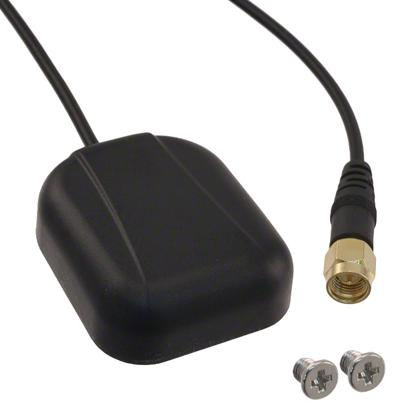 Photo of an external (to PCB) GPS patch antenna. Image from www.digikey.com.