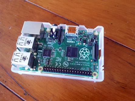 The RaspberryPi B+ I used as for the smarts inside Columbus radio.