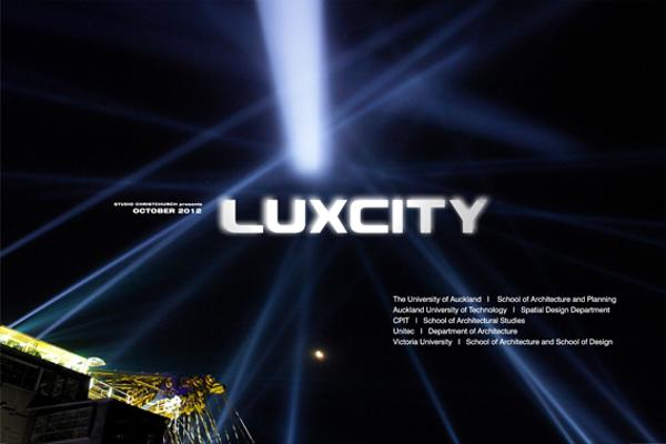 Luxcity event poster for Christchurch 2012.