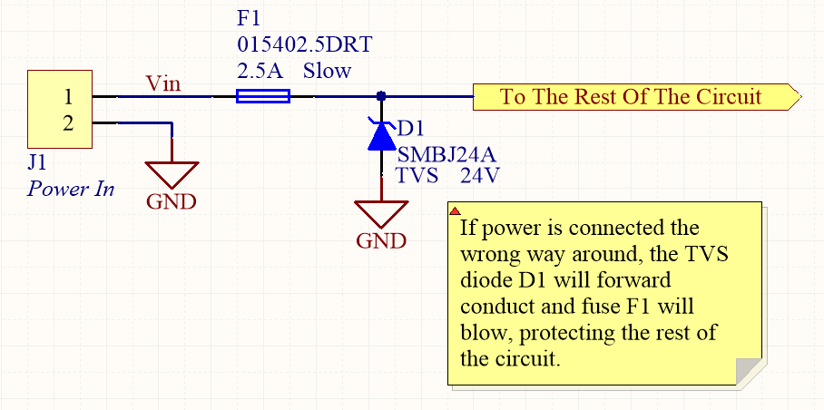 A TVS diode (along with a fuse) can also be a good mechanism for reverse-polarity protection.