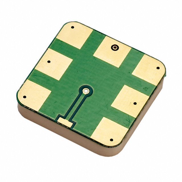 Photo of a SMD mounted GPS patch antenna. Image from www.digikey.com.