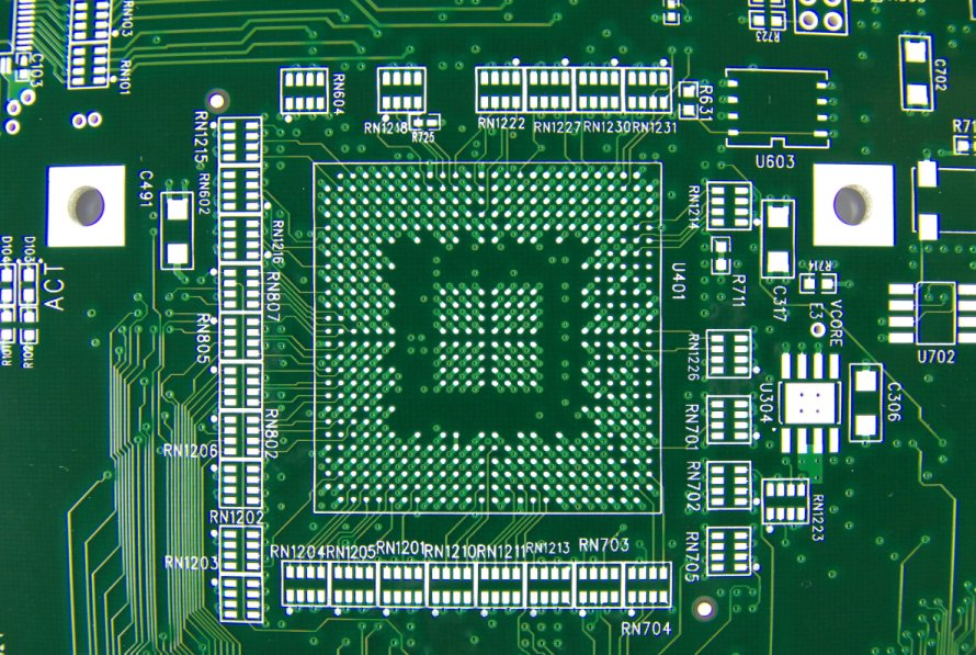 Example of an immersion tin (ISn) PCB surface finish. Image from http://www.standardpcb.com/.