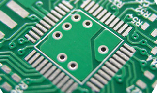 An example of a PCB with a HASL surface finish. Image from http://www.pcbsourcing.com/.