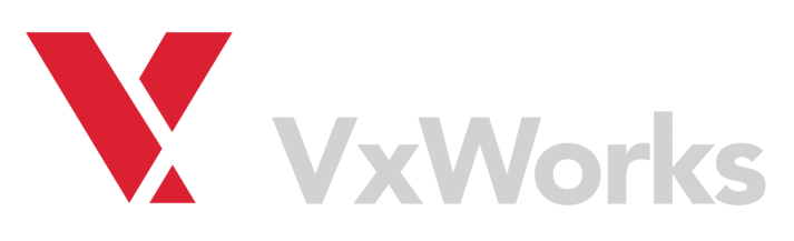 The VxWorks (a real-time operating system, or RTOS) logo.