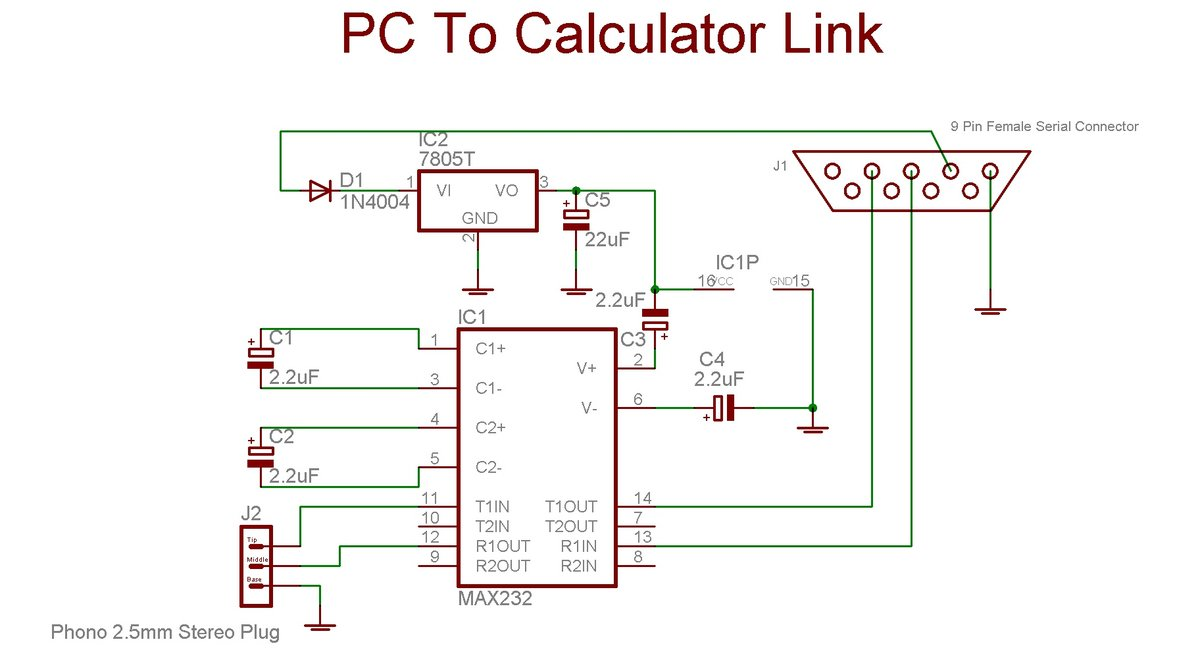 Cal to pc schematic