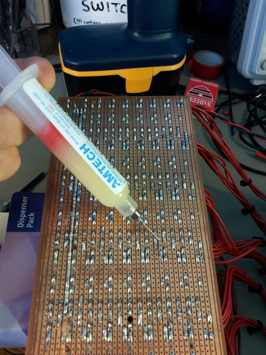 Adding flux for heavy duty soldering