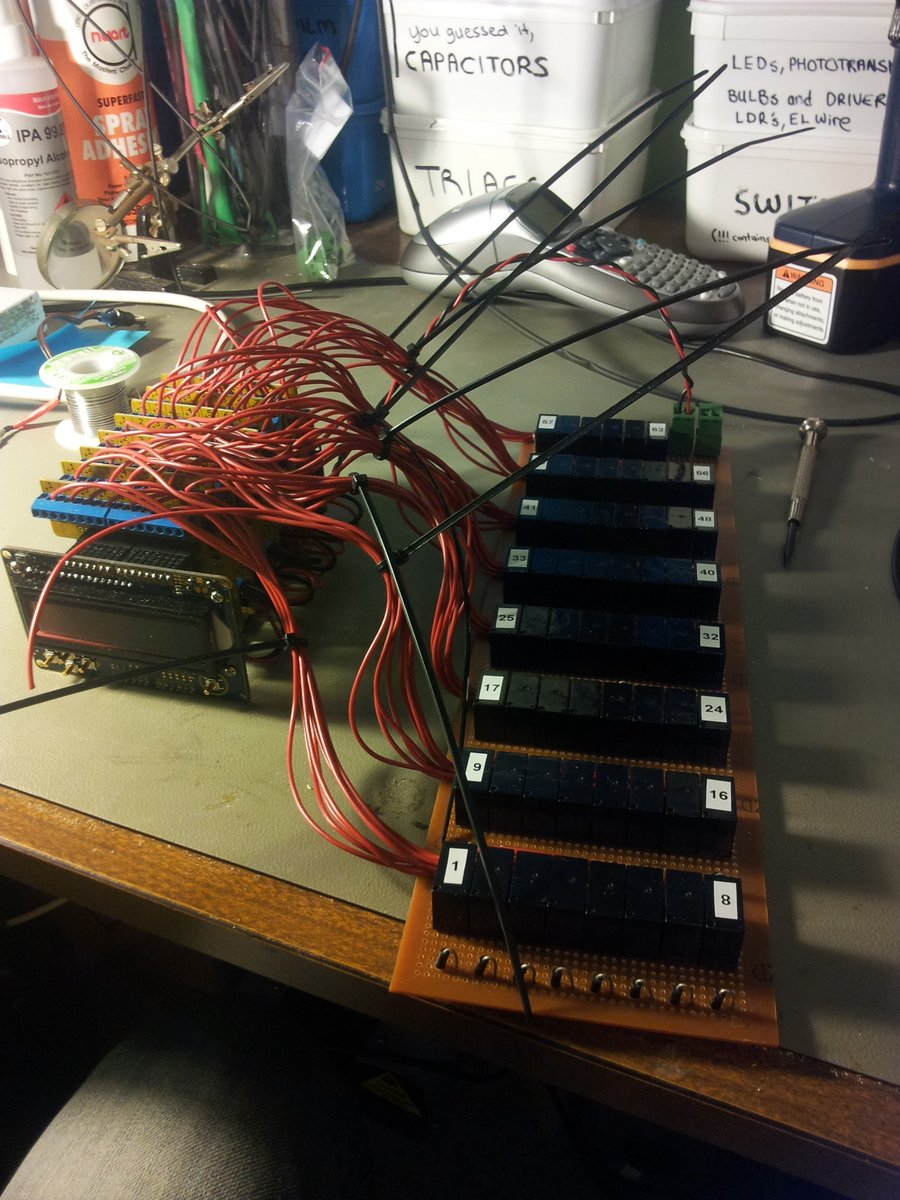 Arduino and relays semi assembled