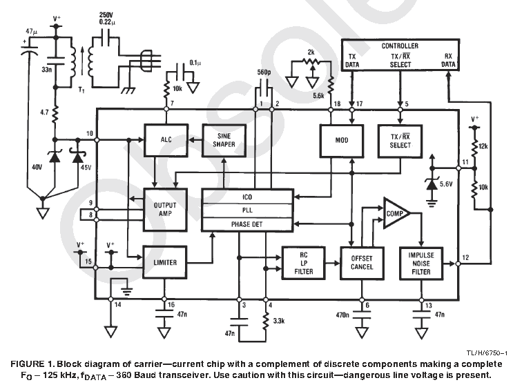 Example circuit from Texas Instruments for the LM1893. Image from http://www.ti.com/lit/ds/snas544a/snas544a.pdf.