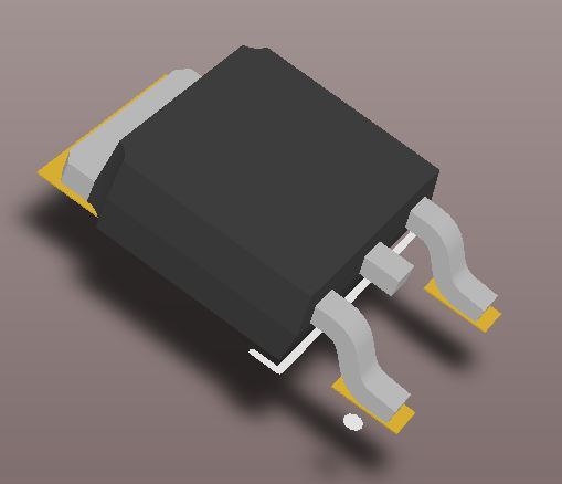 3D model of the TO-252 (DPACK) package.