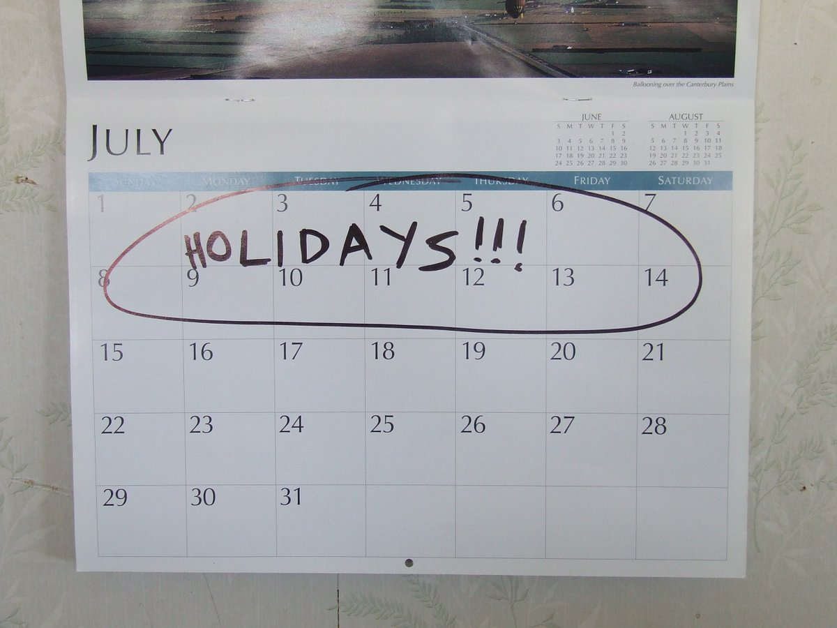 45 holidays on calender