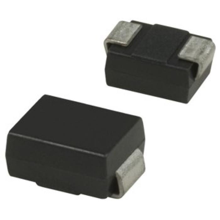 A front and back photo of the DO-214AA (SMB) diode component package.