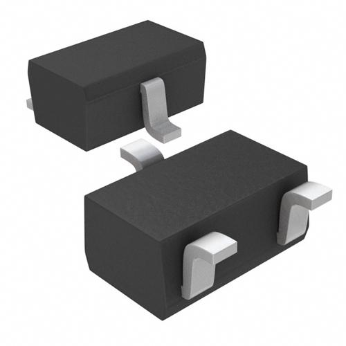 3D model of the SOT-323-3 (SC-70-3) component package.