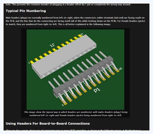 The Connectors page has been updated with the new sections 'Headers' and 'Circular Connectors'.