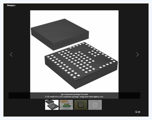 A new image layout for images of component packages.