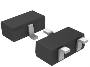 A 3D render of the SOT-346 (SC-59A) component package.