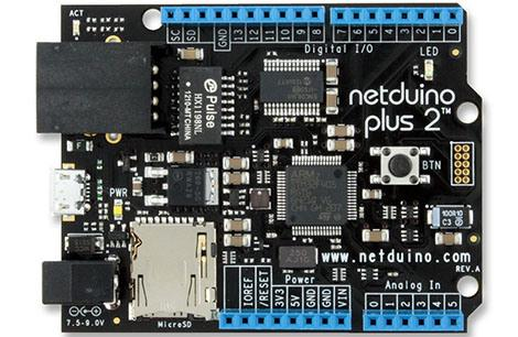 The Netduino, an embedded platform that runs the .NET Micro framework. Image from http://netduino.com/.