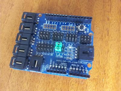An Arduino sensor shield.
