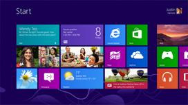The Windows 8 start screen.